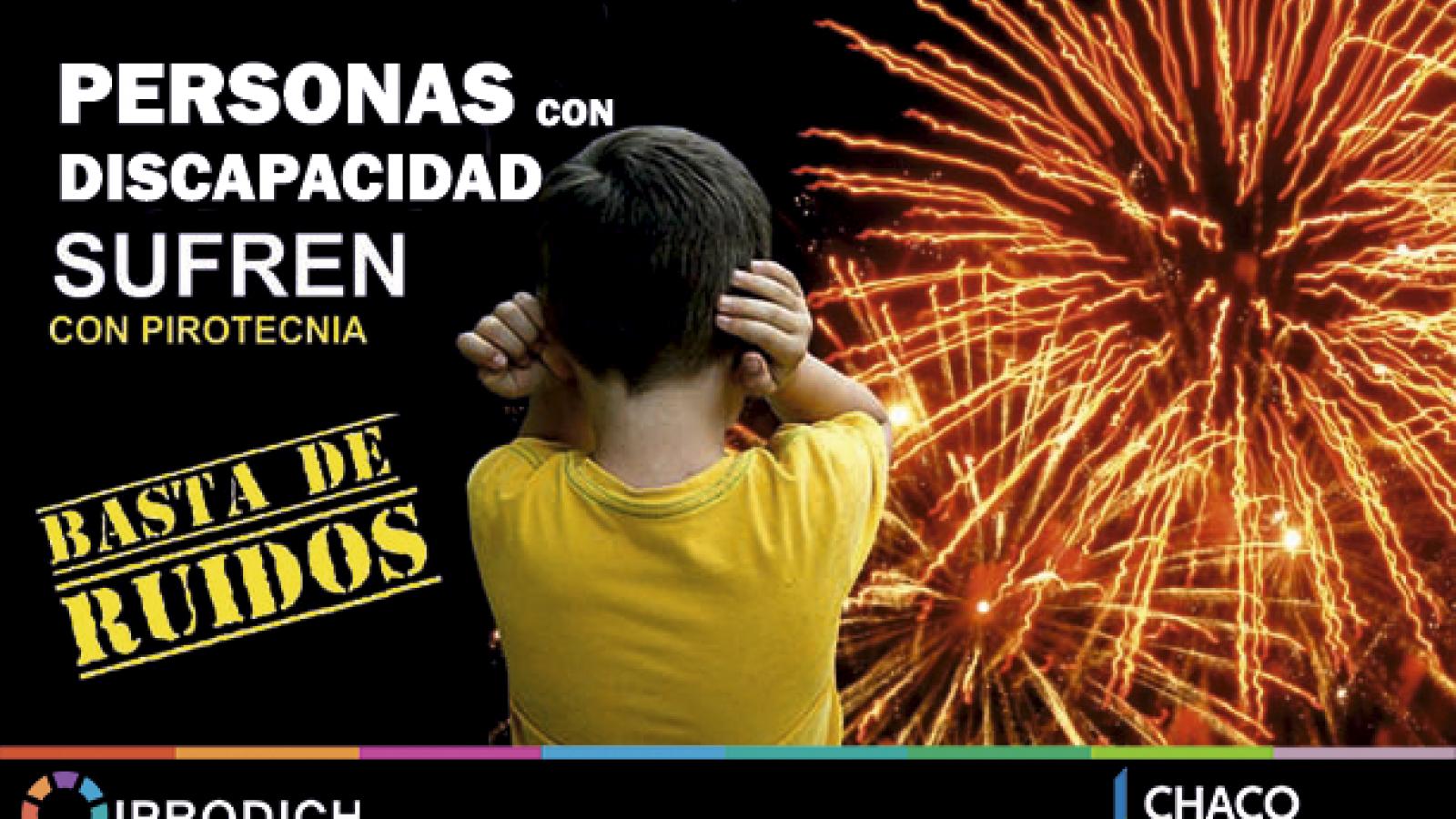 IPRODICH invita a celebrar las Fiestas sin pirotecnia para no afectar a personas con discapacidad