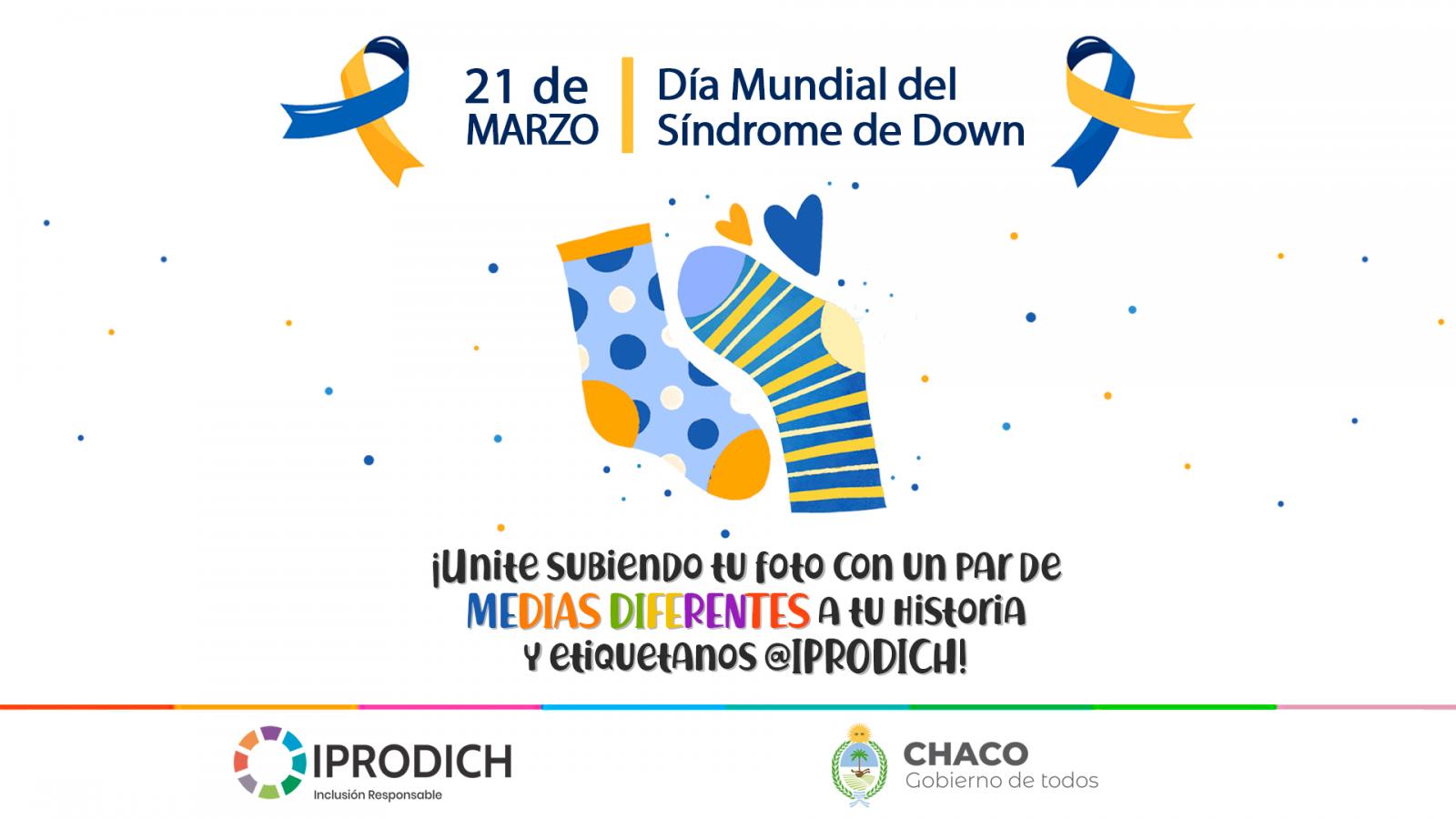 21 de marzo: IPRODICH invita al público a ponerse medias diferentes para conmemorar el Día Mundial del Síndrome de Down